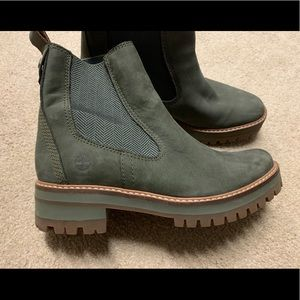 Timberland Olive Green Boots Women's 8